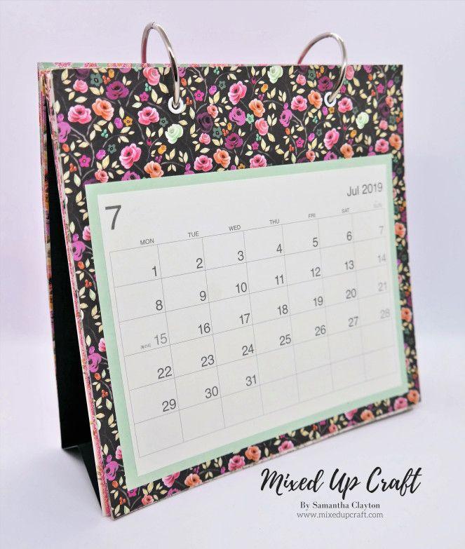Diy Desk Calendar Diy Desk Calendar Desk Calendar Craft Diy Desk