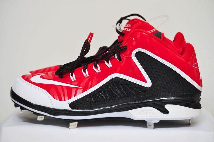 Nike Swingmans MVP 2 3/4 MTL Red Black Metal Baseball Cleats 616258 size 13 D #Nike