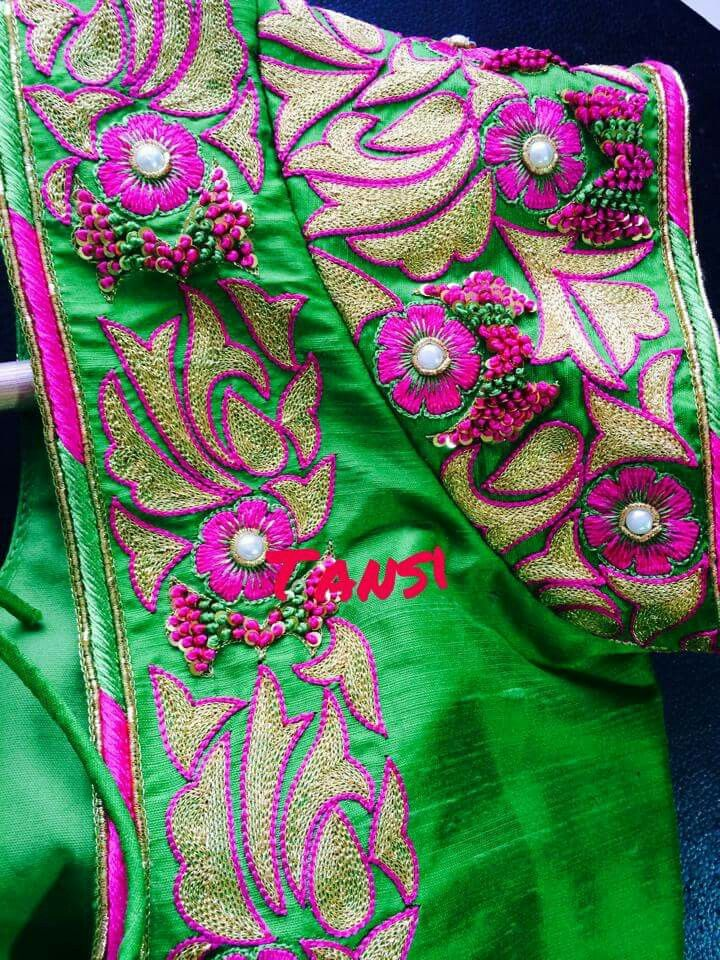 7847a57b4d5782 Pin by Lilysha Rani on heavy maggam work blouses