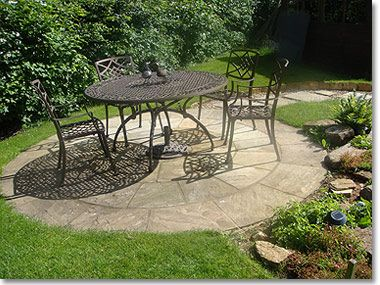 Image result for patios on a lawn