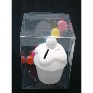 Paint-Your-Own Cupcake Money Box