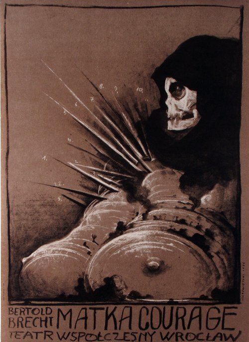 Franciszek Starowieyski Mother Courage, Brecht, Polish Theater Poster