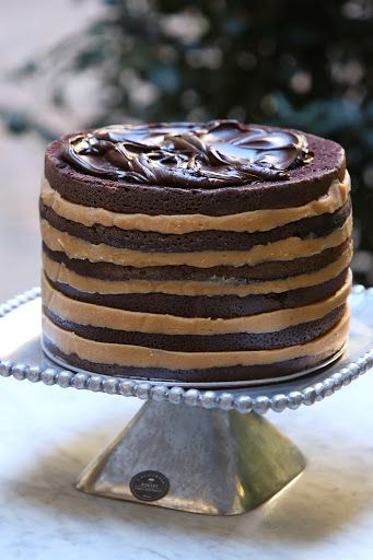 Salted caramel six-layer chocolate cake by California Bakery