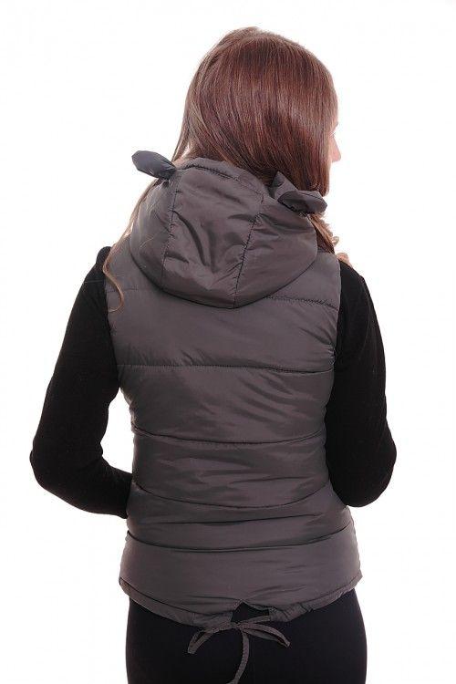 Жилетка А3150 Размеры: 42,44,46,48,50 Цвет: серый Цена: 720 руб.  http://optom24.ru/zhiletka-a3150/  #одежда #женщинам #жилетки #оптом24