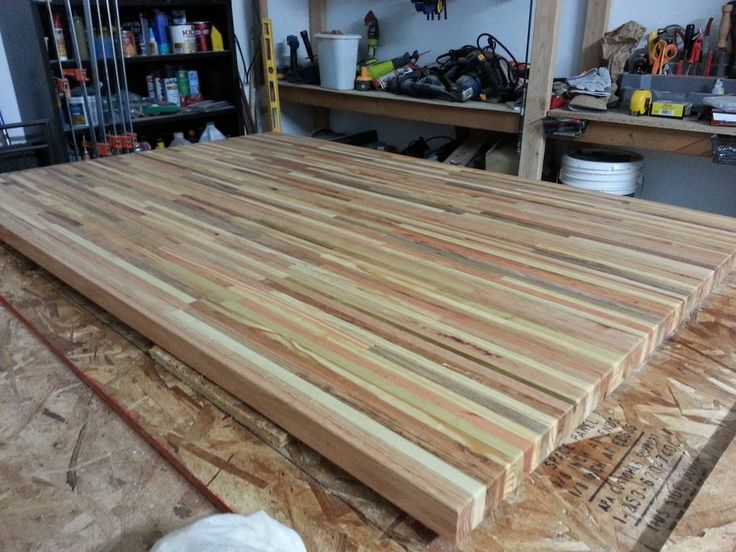 beautiful table top made out of recycled pallets