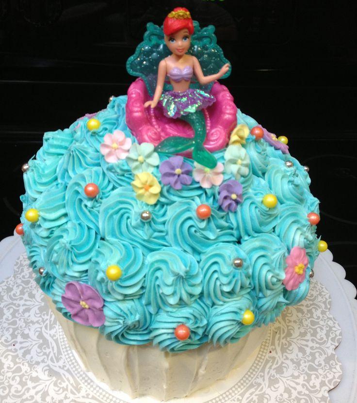 Little Mermaid Cupcake Cake Cupcakes 4 You Pinterest