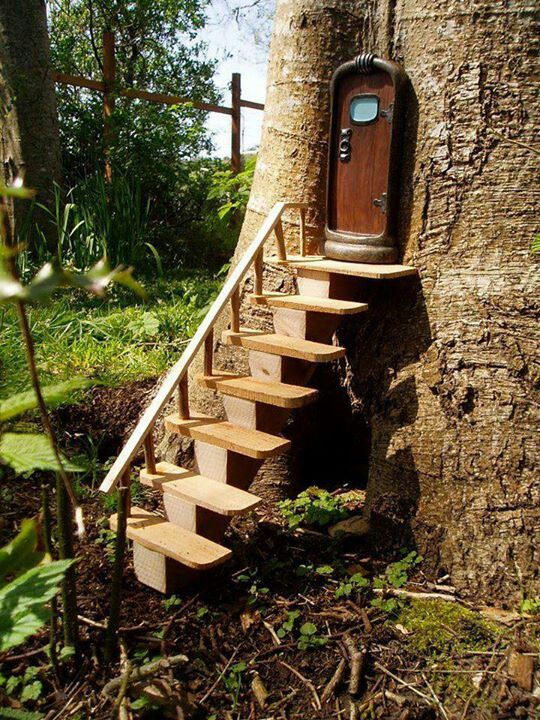 Fairy tree house fairy doors pinterest for The little fairy door