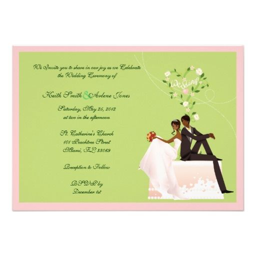246 best african american wedding invitations images on pinterest, Wedding invitations