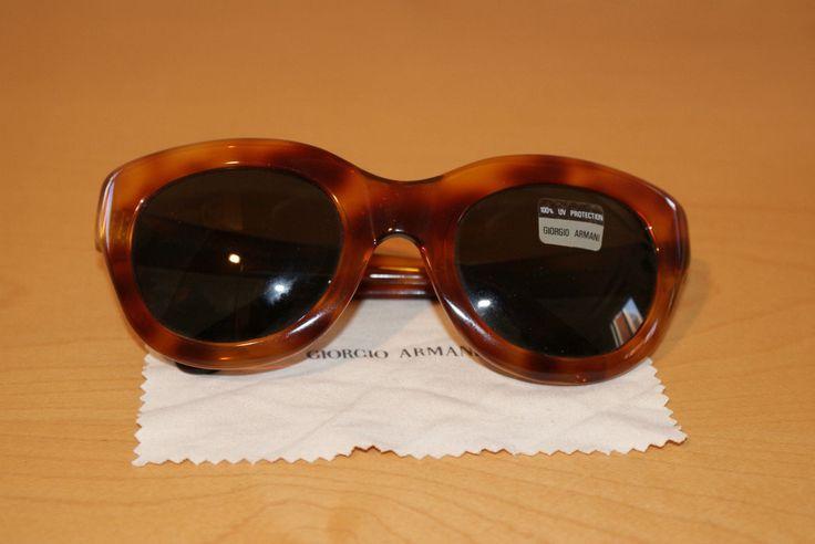 """Original 90s!! Woman Sunglasses Brown Color Original Cover  """"Armani"""" Occhiali Sole Donna Made in Italy Mod 934 Vintage Custodia Originale di BeHappieWorld su Etsy"""