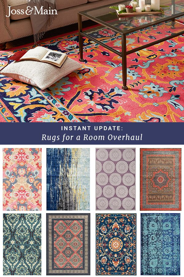 Find your footing with rugs in a variety of colors, patterns & textures. It's an irresistible opportunity for a floor refresh! Shop rugs for every room at jossandmain.com. Sign up to learn more about our exclusive deals, and don't forget – free shipping for all orders over $49!