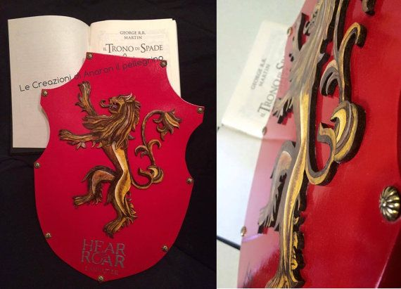 House Lannister shield game of Thrones-Game of thrones