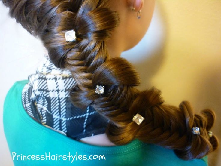 Fishtail Bow Tie Braid How-to Video Tutorial.  Back To School Hairstyles by hair4myprincess.