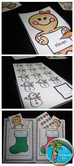Interactive Christmas themed booklets linked to Common Core Counting and Cardinality.  Designed to be easily made by little fingers.  Differentiated.  Color and black and white.  KINDER / FIRST GRADE $
