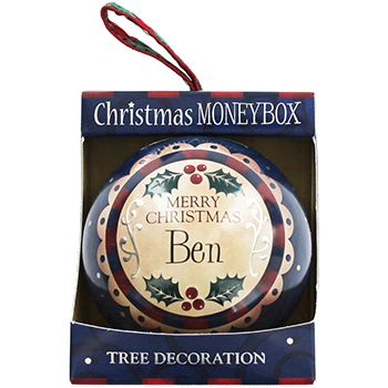 Personalised Money Box Bauble - Ben | Money Boxes at The Works