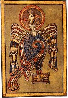 Book of Kells Illustrations | Book of Kells | painting of the eagle represents the Gospel of John