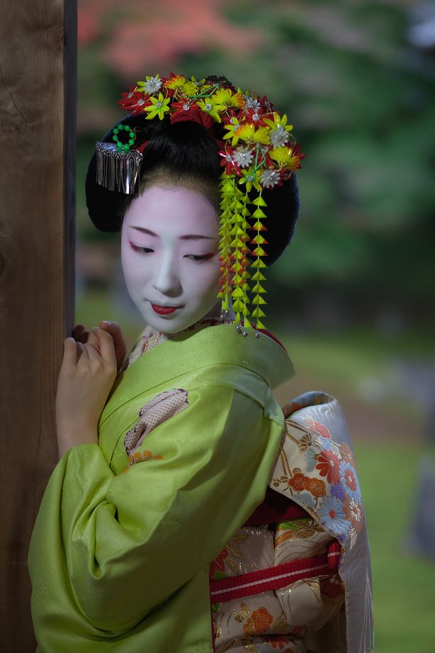 A junior maiko during the month of November