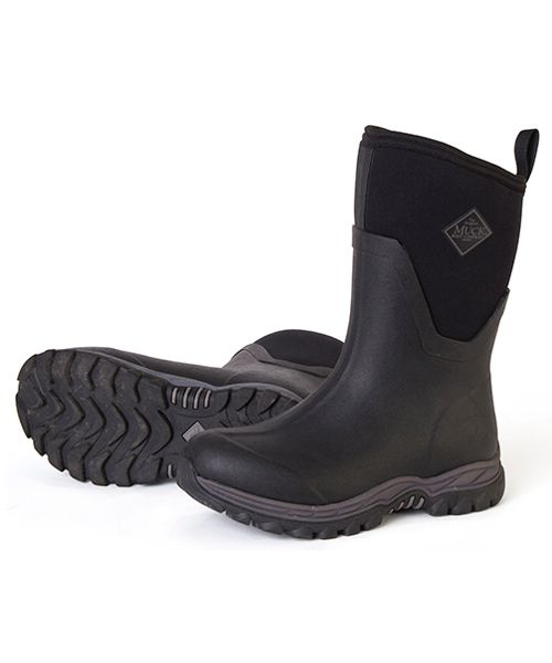 The Muck Boot Arctic Sport II mid-length wellies are new from Muck Boot and with a slimmer fit are specifically designed for ladies. They are fleece lined with 5mm of neoprene for warmth and a new aggressive outsole which is highly resistant to slipping.      100% Waterproof     Slimmer fit for ladies     Stretch fit top-line binding     5mm neoprene     Four way stretch nylon     Comfort rated down to minus 40C     Aggressive slip resistant outsole