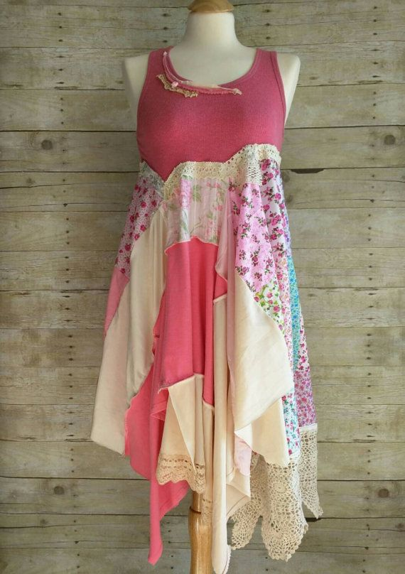 Sunshine Shabby layered upcycled lagenlook by PinkSunshineShabby