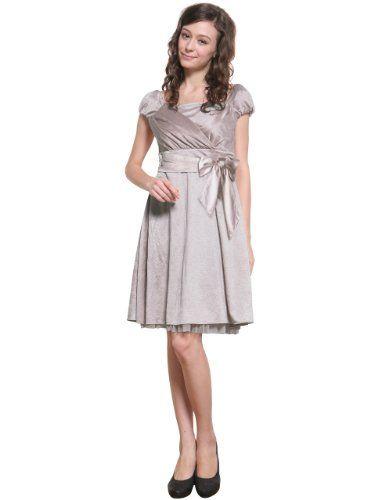 Sweet Mommy Satin Maternity and Nursing Dress
