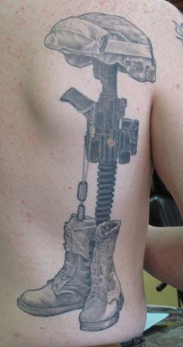 Fallen soldier memorial tattoo