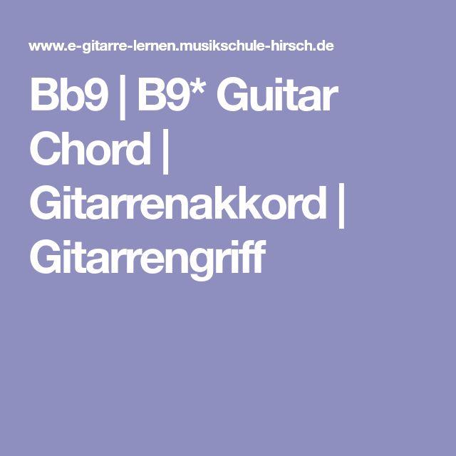 Bb9 | B9* Guitar Chord | Gitarrenakkord | Gitarrengriff