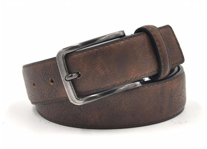 Beautiful rustic PU leather belt for any occasion. Visit www.tungstenandcarbide.com for more fine wares.