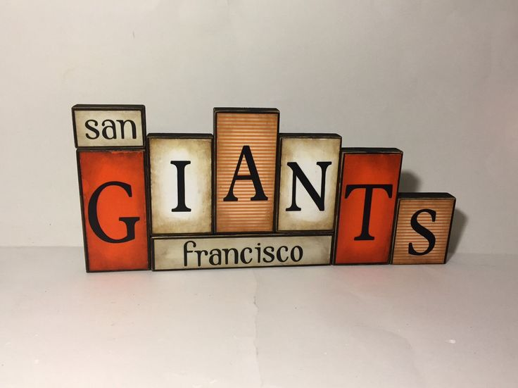 San Francisco Giants Word Blocks - Giants Baseball Wooden Block Set - SF Giants Father's Day Gift - San Fran Giants Sign by GuidingPrintables on Etsy https://www.etsy.com/listing/228481802/san-francisco-giants-word-blocks-giants