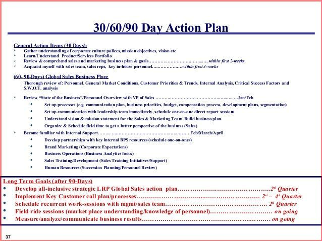 12 Best 30/60/90 Day Plans Images On Pinterest | 90 Day Plan