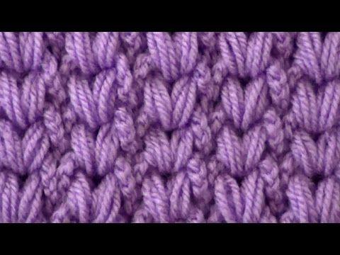 Узор Косички из пышных столбиков - YouTube