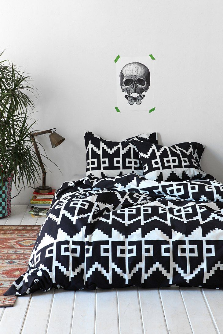 Magical Thinking Southwest Geo Duvet Cover-- This is perfect. I think it'd look amazing with maroon/burgundy sheets. I need this.