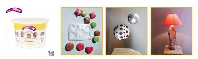 """Pot de poudre à fondre Scultoline """"made in France"""". Matière minérale naturelle, non toxique, étanche à l'eau et réutilisable à l'infini. Elle fond au four à micro-ondes ou au bain-marie, en moins de 2 minutes. Créez ainsi vos propres objets de décoration, d'art ou des cadeaux uniques et originaux en très peu de temps ! A partir de 9,90€ >>> http://www.perlesandco.com/Scultoline_Pots-c-93_3073_3075.html"""
