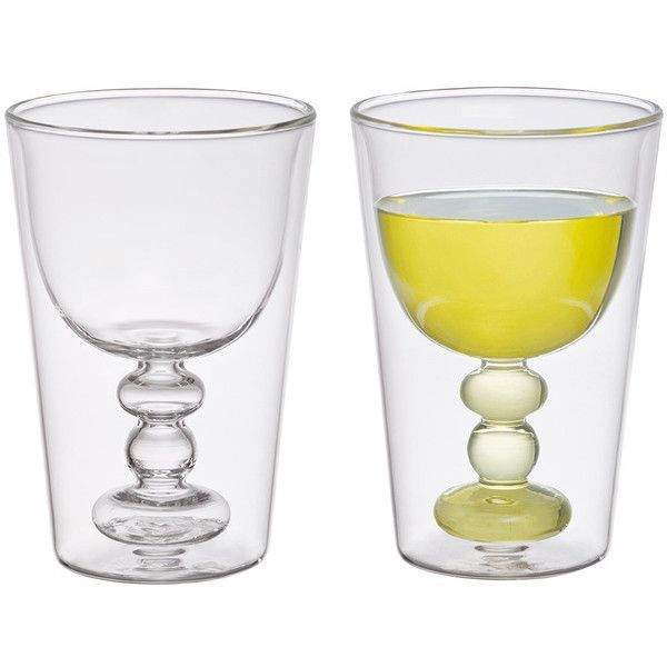 Bitossi Home Double Walled Cocktail Glasses Set Of 2 Spritz