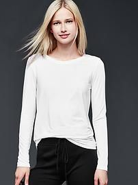 Pure Body modal long-sleeve tee
