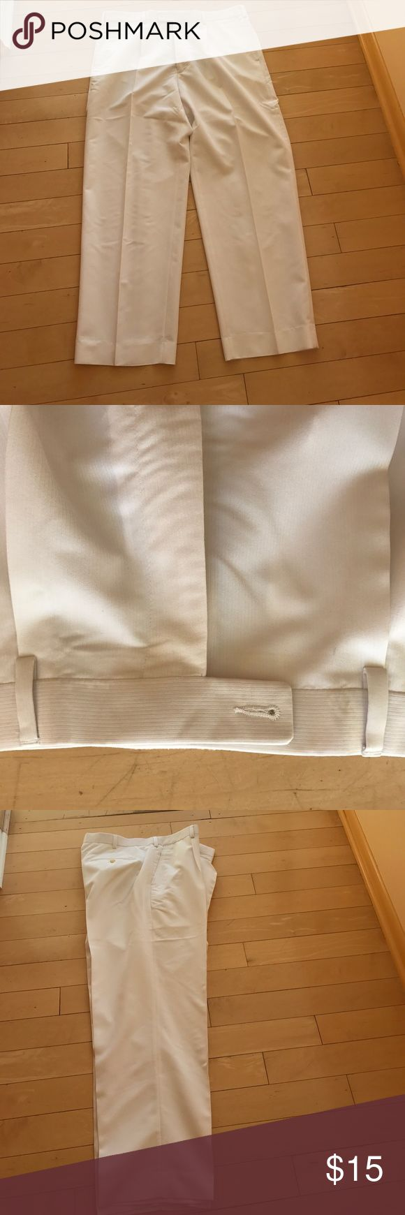 CUBAVERA Cruise or resortwear. White men's slacks White Men's slacks. Perfect for your summer parties, cocktail hour at a resort or on a cruise. Length 32 Cubavera Pants