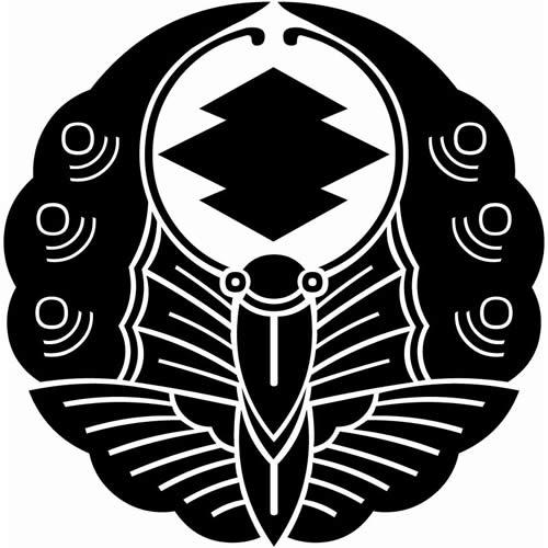 浮線蝶に松皮菱(ふせんちょうにまつかわびし)