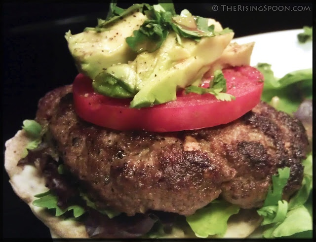 The Rising Spoon Blog: Pan-Fried Hatch Green Chile Burgers (sub poblano or jalapeno if it's not hatch season) #delicious #kick
