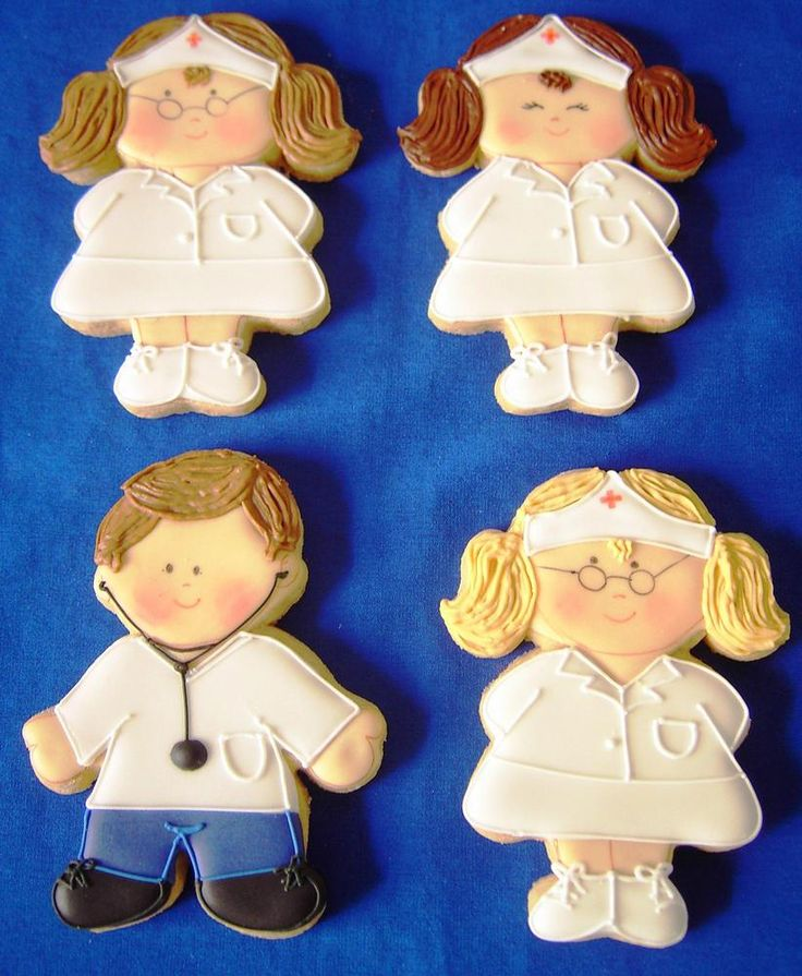 doctor and nurses cookies