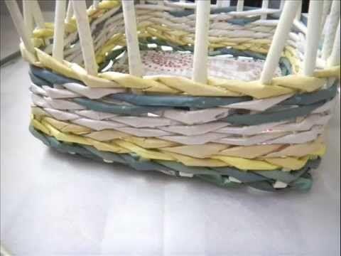 Gazeteden sepet/square basket from newspaper