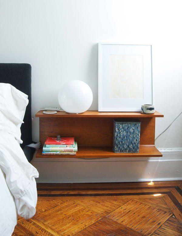 wall mounted nightstand bedroom interior design ideas space saving furniture ideas