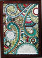 Sharra Frank Mosaics - Custom Mosaic Window for Lake Superior Outhouse.