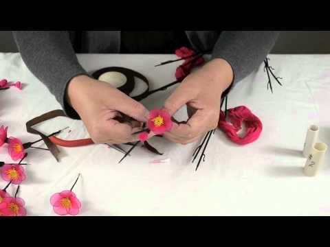 How to make nylon flower/plum blossom youtube tutorial - blisswonders