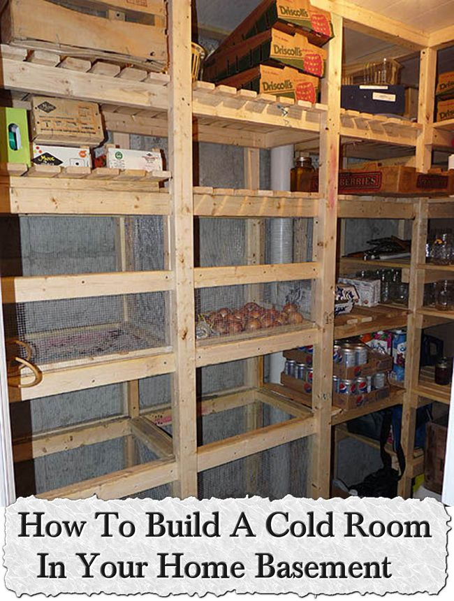 How to build a cold room in your home basement for Build your room