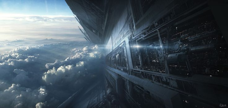 432 best images about scifi space ship on pinterest for Space matte painting