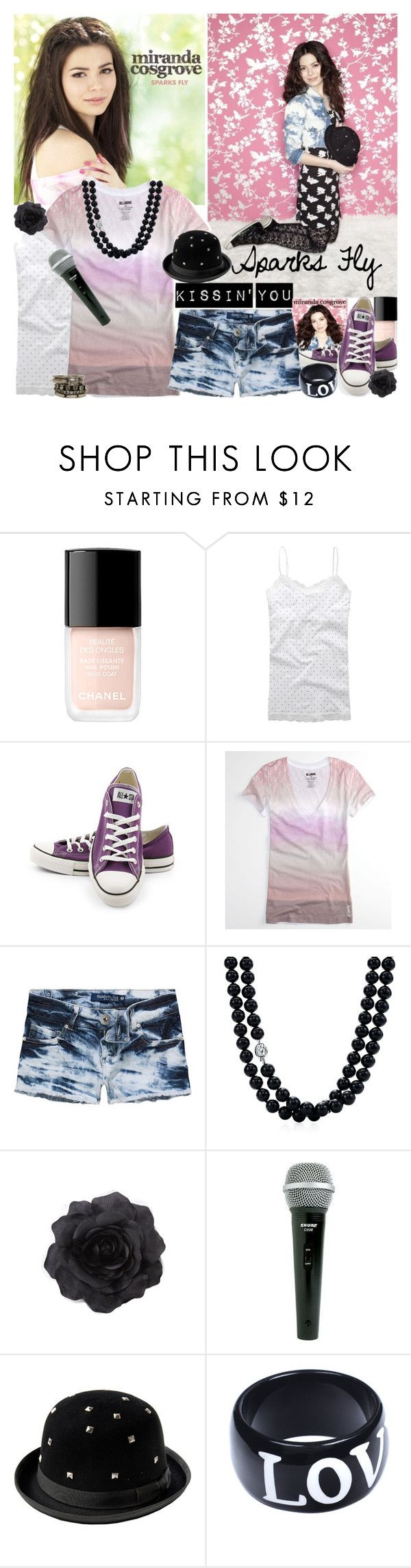 """""""When i'm Kissin' You..?"""" by ashleyandcody ❤ liked on Polyvore featuring Chanel, Aéropostale, Converse, Billabong, Celebrity Pink, Tiffany & Co., Long Tall Sally, AND 1, American Retro and ASOS"""