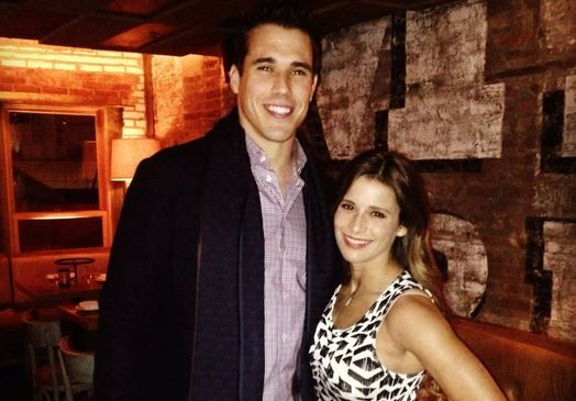 NFL quarterback Brady Quinn and wife US Olympic medalist gymnast Alicia Sacramone  This is the 2nd marriage between an NFL player and an Olympic gymnast. Alicia's teammate Shawn Johnson also married an NFL player