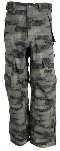 Sessions Men's Movement Snowboard Pants - Green Camo XL by Sessions. $62.97. Designed sturdy to confront the rigors of hard riding in the halfpipe and untracked alpine these sturdy Men's Movement Snowboard Pants by Sessions are a sound pick for snowboarders of all levels. While traditional insulated pants offer you comfort against winter conditions, the Men's Movement Snowboard Pants offer an exceptional balance of comfort and rugged features for snowboarding. The Sessions...