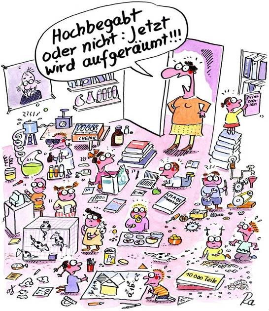 """Copyright Renate Alf und Lappan Verlag  http://kindertraeume.frei-raum-zeit.de/?p=184  Auch im Kindergarten tut sich was, wo früher betreut und gebastelt wurde, werden jetzt Bildungsstandards erfüllt: Mathe, Kunst, Physik, Fremd- und Muttersprachen… – alles ganz spielerisch, kindzentriert und natürlich lückenlos dokumentiert. Kein leichtes Brot für die Erzieherinnen!  Cartoonauszug aus """"Der reinste Kindergarten!"""""""