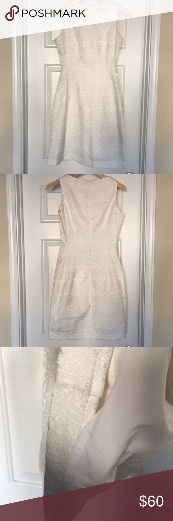 New York & Co Eve Mendes Off White Cocktail Dress Worn once to a wedding. Off white/ivory color. Scoop neck, hidden zipper in the back. Lining underneath. Pair it with my pink heels for sale in my closet. 💕 New York & Company Dresses Mini