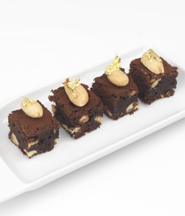 Chocolate and salt make an exciting pairing, offset here by sweet almonds. A devastatingly good petit four to round off a party in style - Frances Atkins