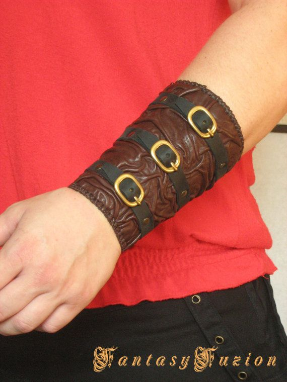 Steampunk Medieval Fashion Leather Bracer